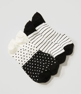 LOFT Dot & Stripe No Show Sock Set
