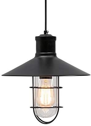 Edison Harbour Caged Pendant Light - Black