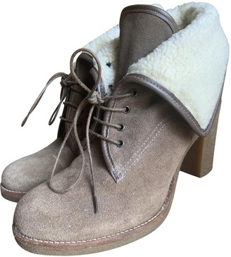 Minelli Camel Leather Ankle boots