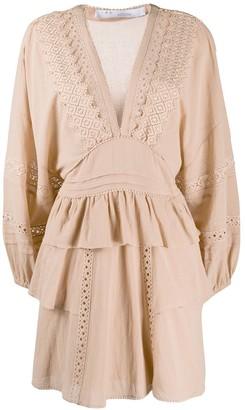 IRO Figons embroidered mini dress
