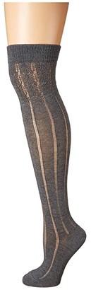 Falke Praire Over the Knee (Grey Melange) Women's Knee High Socks Shoes