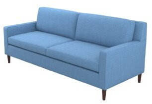 """Thumbnail for your product : Winston Porter Auvray 80.5"""" Square Arm Sofa with Reversible Cushions"""