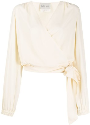 Forte Forte relaxed-fit wrap blouse