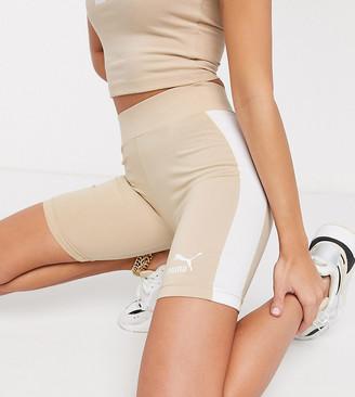 Puma legging shorts in beige - exclusive to ASOS