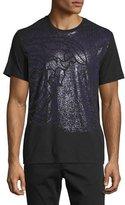 Versace Medusa Print Short-Sleeve T-Shirt, Black/Violet