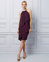 Le Château Halter Tiered Ruffle Cocktail Dress