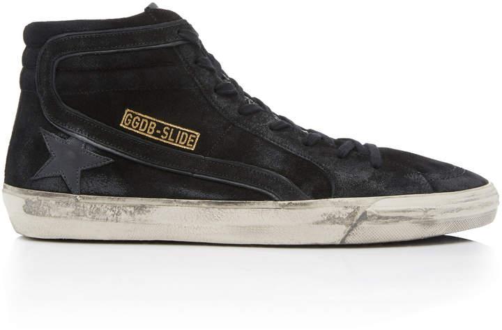 Golden Goose High-Top Suede Slide Sneakers
