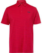 Under Armour Playoff Striped Stretch-jersey Golf Polo Shirt - Red