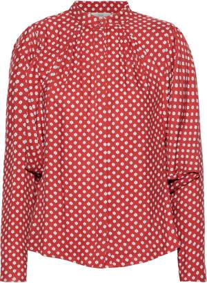 Joie Tangia Gathered Printed Twill Blouse