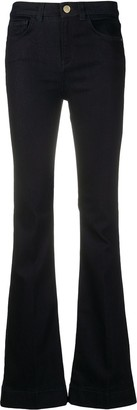 Pinko Iride mid-rise flared jeans
