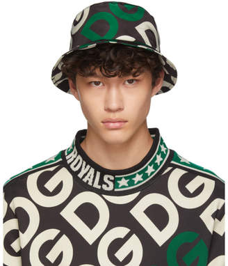 Dolce & Gabbana Black Logo Bucket Hat