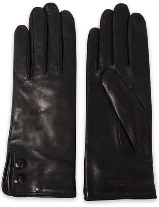 Rag & Bone Snap-detailed Leather Gloves