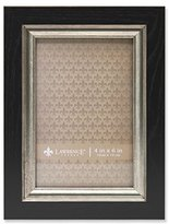Lawrence Frames Black with Burnished Silver Composite Picture Frame, 4 by 6-Inch