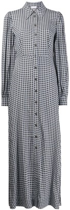 Ganni Checkered Long Shirt Dress