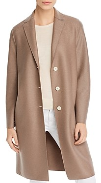 Harris Wharf Virgin Wool Long Bicolor Coat