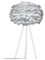 EOS Umage UMAGE - Micro Light Grey Feather White Tripod Table Lamp - Grey/White