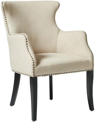 OKA Beardon Armchair - Wide Herringbone Linen