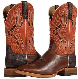 Ariat Arena Rebound (Chocolate/Rave Orange) Cowboy Boots