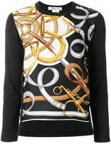 Comme des Garcons metallic print sweater
