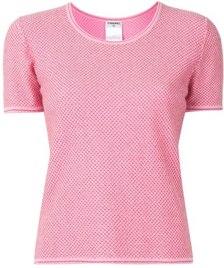 Chanel Pre Owned 2001 lurex detailing knit T-shirt