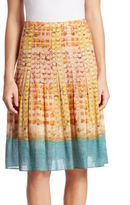 Akris Punto Printed Cotton Skirt