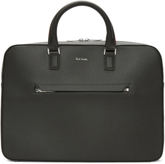 Paul Smith Grey Leather Slim Folio Briefcase