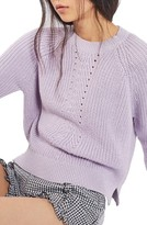 Topshop Women's Boxy Ribbed Sweater