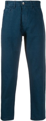 YMC Striped Slim-Fit Trousers