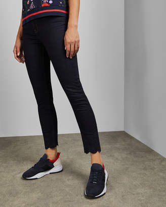 Ted Baker YESENIA Dark wash embroidered jeans