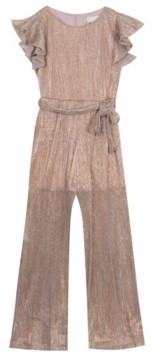 Rare Editions Big Girl Knit Jumpsuit