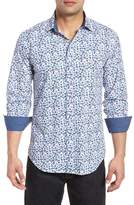 Bugatchi Allover Flutter Shaped Fit Print Sport Shirt