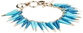French Connection French Connection;;NOTGOOGLE;; Coated Metal Spike 2 Row Bracelet - Blue
