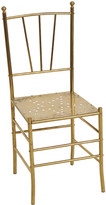 Rejuvenation Italian Brass Chair w/ Perforated Star Design