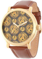 AVENGERS Avengers Avengers Mens Brown Strap Watch-Wma000251