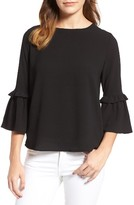 Gibson Petite Women's Ruffle Sleeve Top
