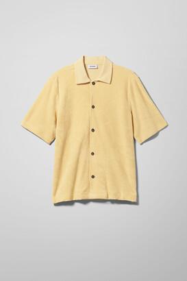 Weekday Gilbert Short Sleeve Shirt - Black