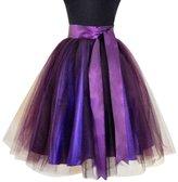 WDPL Women's Short Knee Length Bridal Tutu Skirt with Sash