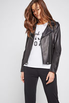 BCBGeneration Leather Moto Jacket - Black