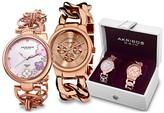 Akribos XXIV Women's Rose-Tone Watch Gift Set