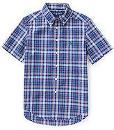 Ralph Lauren Little Boys 2T-7 Plaid Short-Sleeve Poplin Shirt