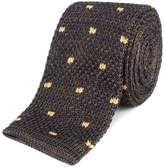 Gibson Olive and Navy with spot knitted tie