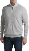 Forte Cashmere Mock Neck Sweater - Cashmere, Zip Neck (For Men)