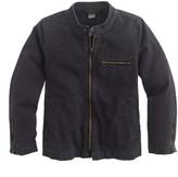 J.Crew Boys' cotton canvas motorcycle jacket