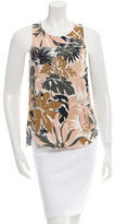 Rag & Bone Leaf Print Silk Top