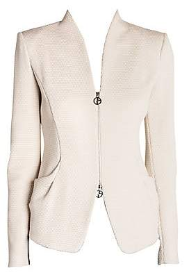 Giorgio Armani Women's Rice Stitch Jersey Zip Jacket