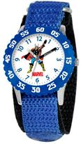 Marvel Kid's Thor Stainless Steel Time Teacher Watch with Rotating Bezel - Blue Strap