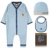 Roberto Cavalli Roberto CavalliBaby Boys Blue Romper Gift St (3 Piece)
