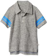 Gap Stripe-sleeve slub polo