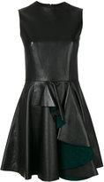 Alexander McQueen ruffled mini dress - women - Silk/Leather - 40