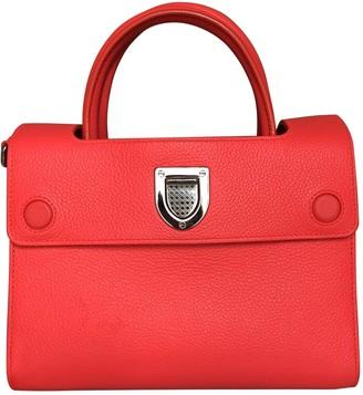 Christian Dior Diorever Orange Leather Handbags